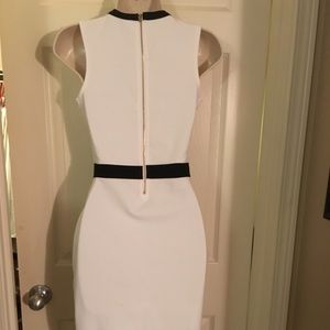 Guess Dresses - GUESS White with Black Trim Dress